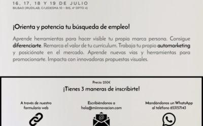 """Orienta y potencia tu búsqueda de empleo con nuestro taller de verano """"Marca personal"""""""